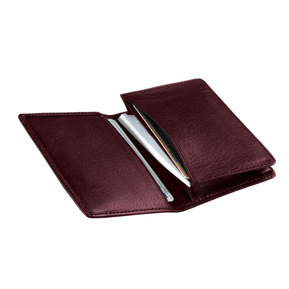 Burgundy Executive Business Card Case Wallet in Genuine Leather