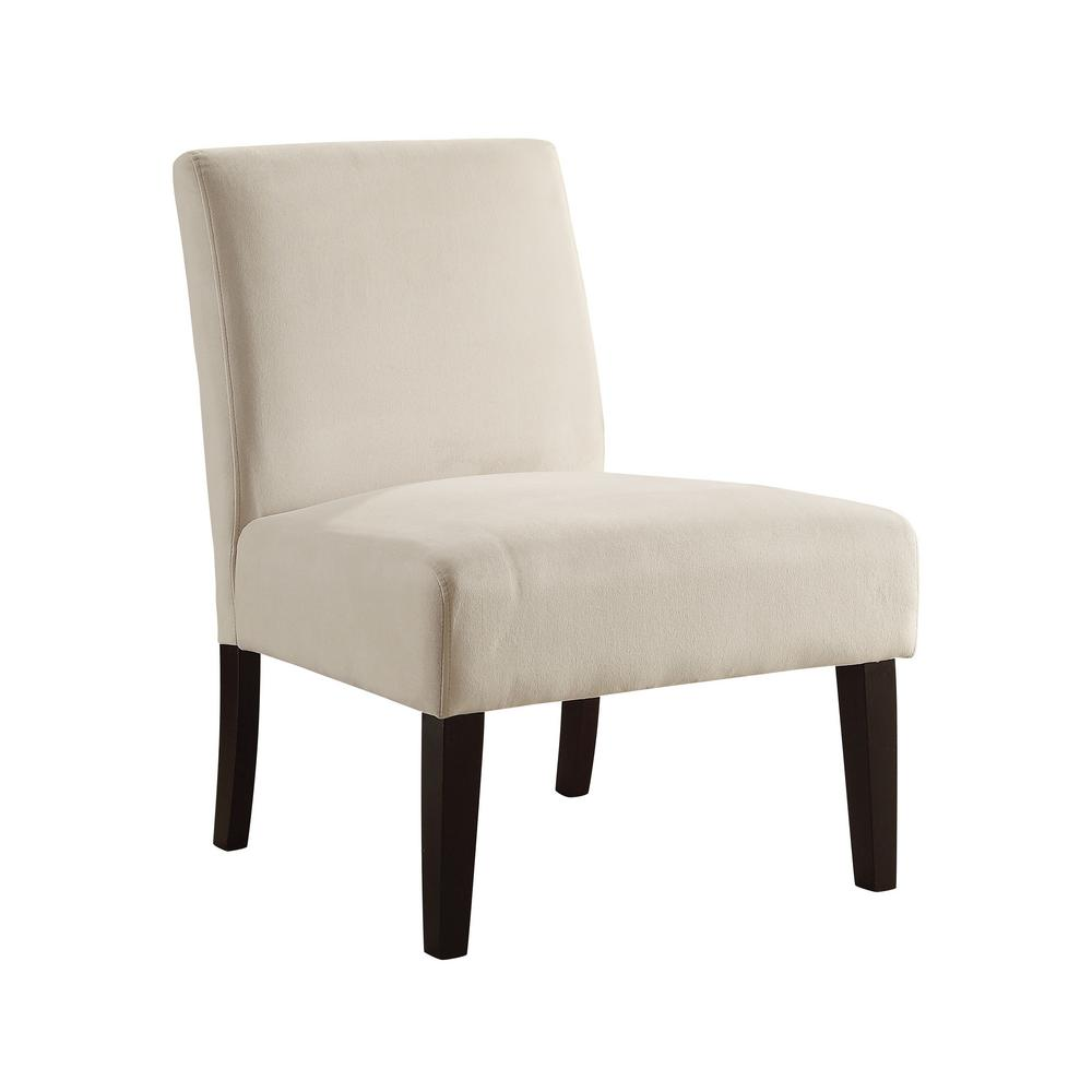 OSP Home Furnishings Laguna Oyster Chair The Laguna Series Chair adds sophistication to any room. The chairs are covered in high performance easy care fabrics with foam cushions. Solid wood legs for durability complete the design. Color: OYSTER.