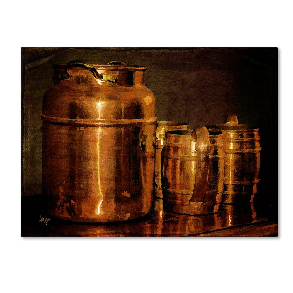 null 16 in. x 24 in. Copper Jugs Canvas Art