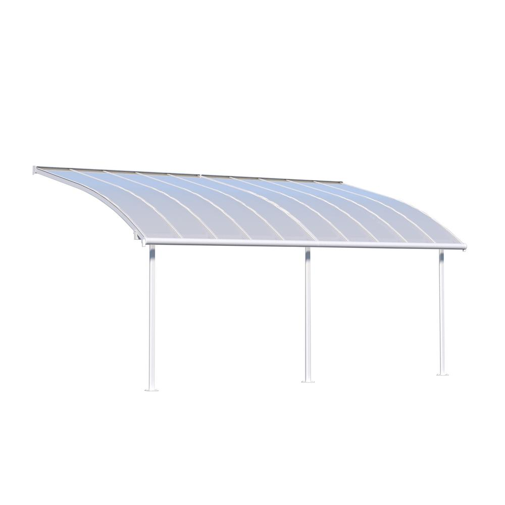 Joya 10 ft.X 20 ft. White Patio Cover Awning