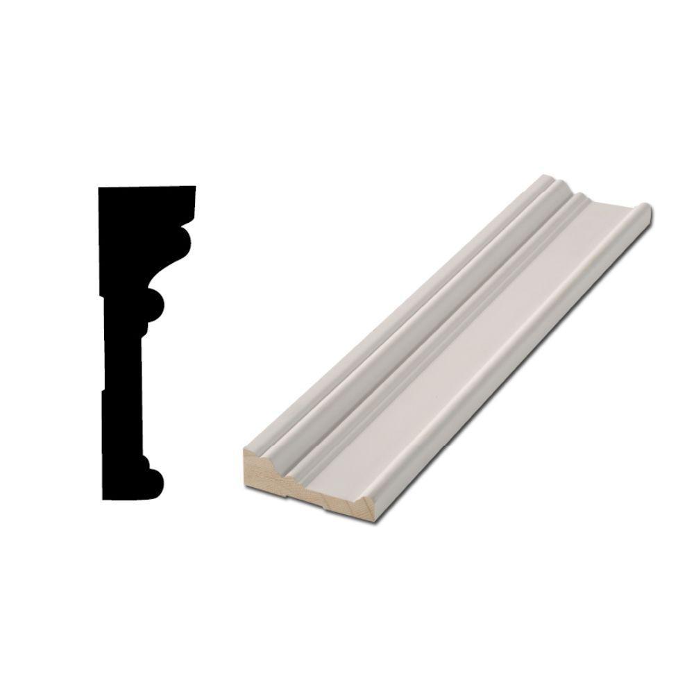 Woodgrain Millwork RB 03 1-1/16 in. x 3-1/2 in. x 88 in. Primed Finger-Jointed Door and Window Casing