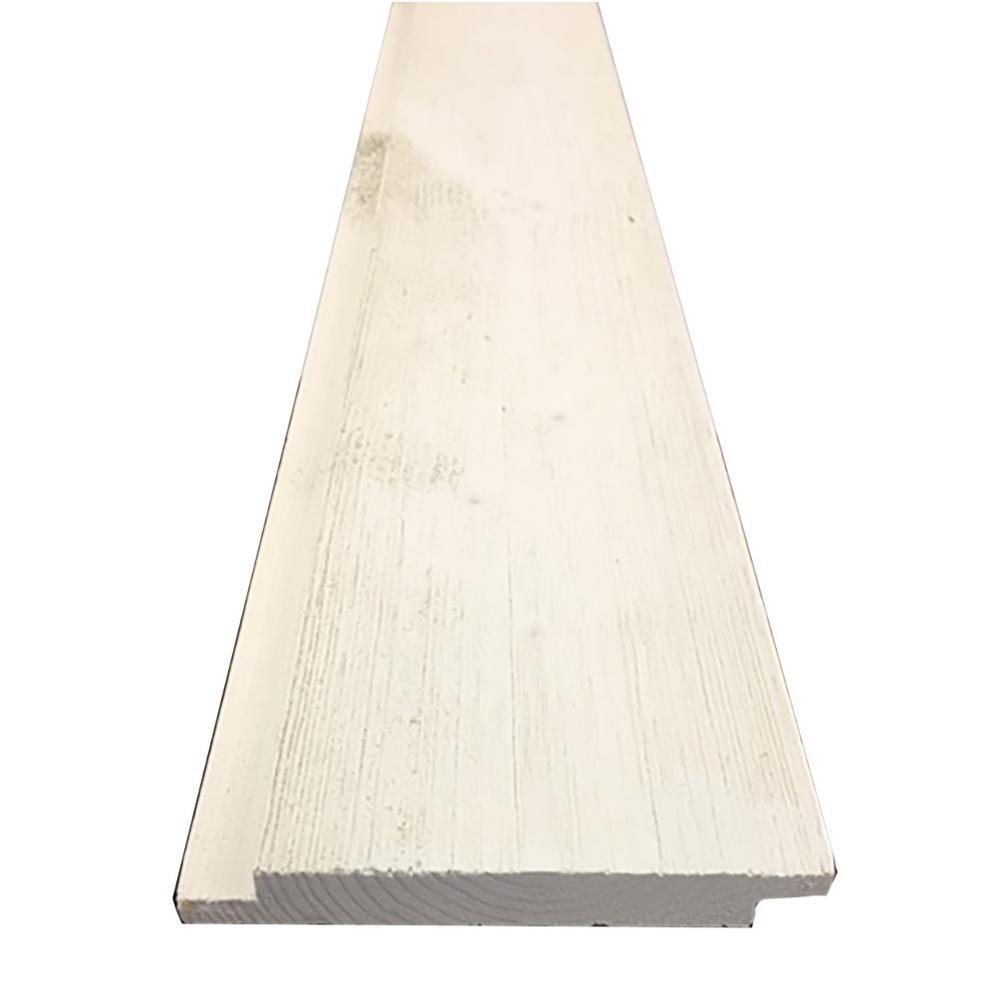 1 in. x 6 in. x 12 ft. Barn Wood White Pine Shiplap Board