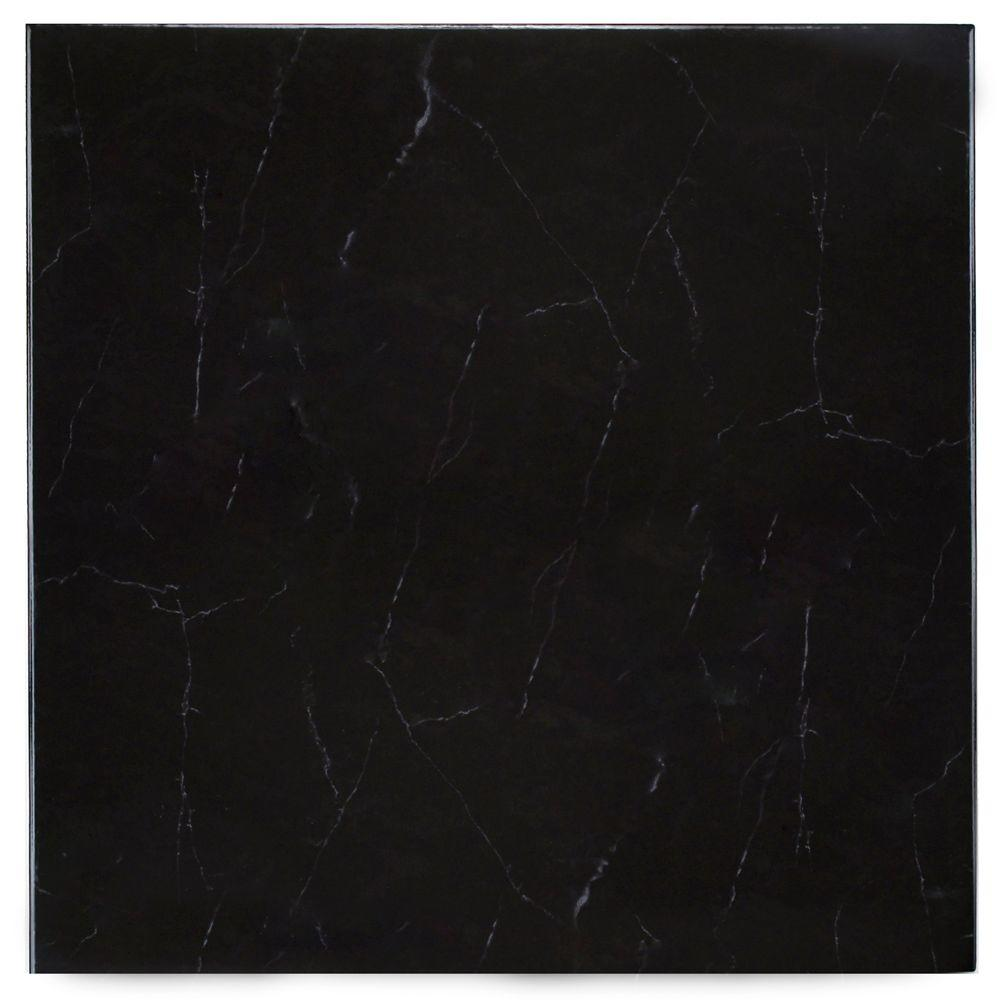 Merola Tile Pichet Solo Preto 13-1/8 in. x 13-1/8 in. Ceramic Floor and Wall Tile (11 sq. ft. / case)-DISCONTINUED