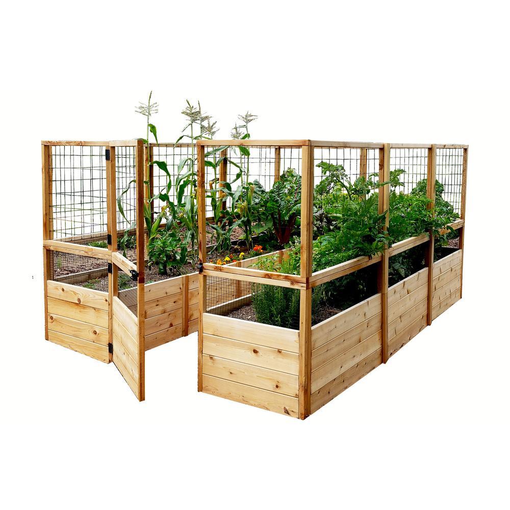 Outdoor Living Today 8x12-ft Garden in a Box w/Deer Fencing Deals