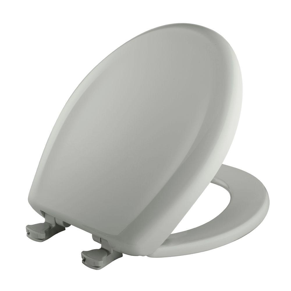 Bemis Round Closed Front Toilet Seat In Ice Gray 200slowt