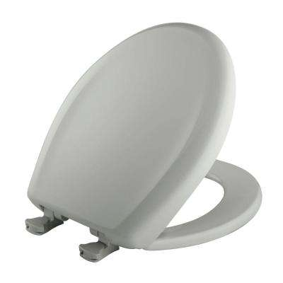Round Closed Front Toilet Seat in Ice Gray