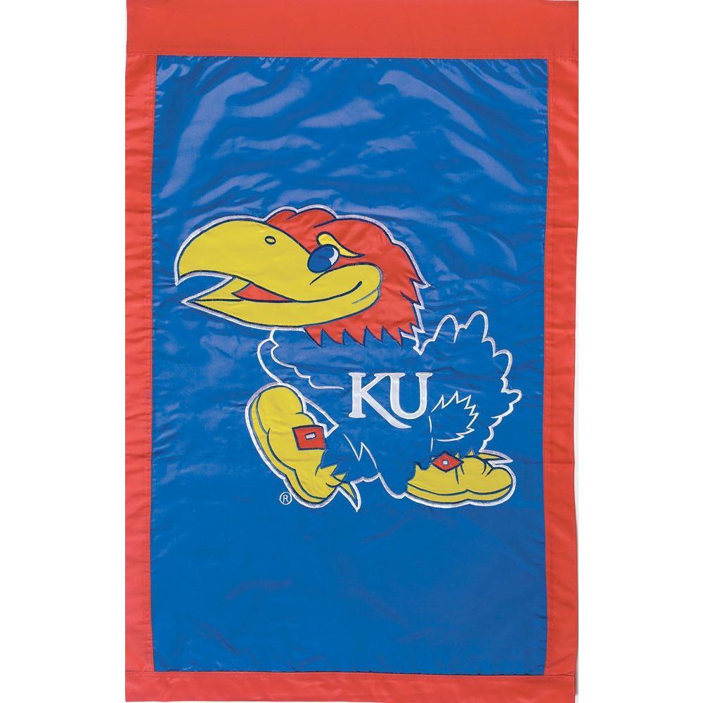 Evergreen Enterprises NCAA 28 in. x 44 in. Kansas 2-Sided Flag