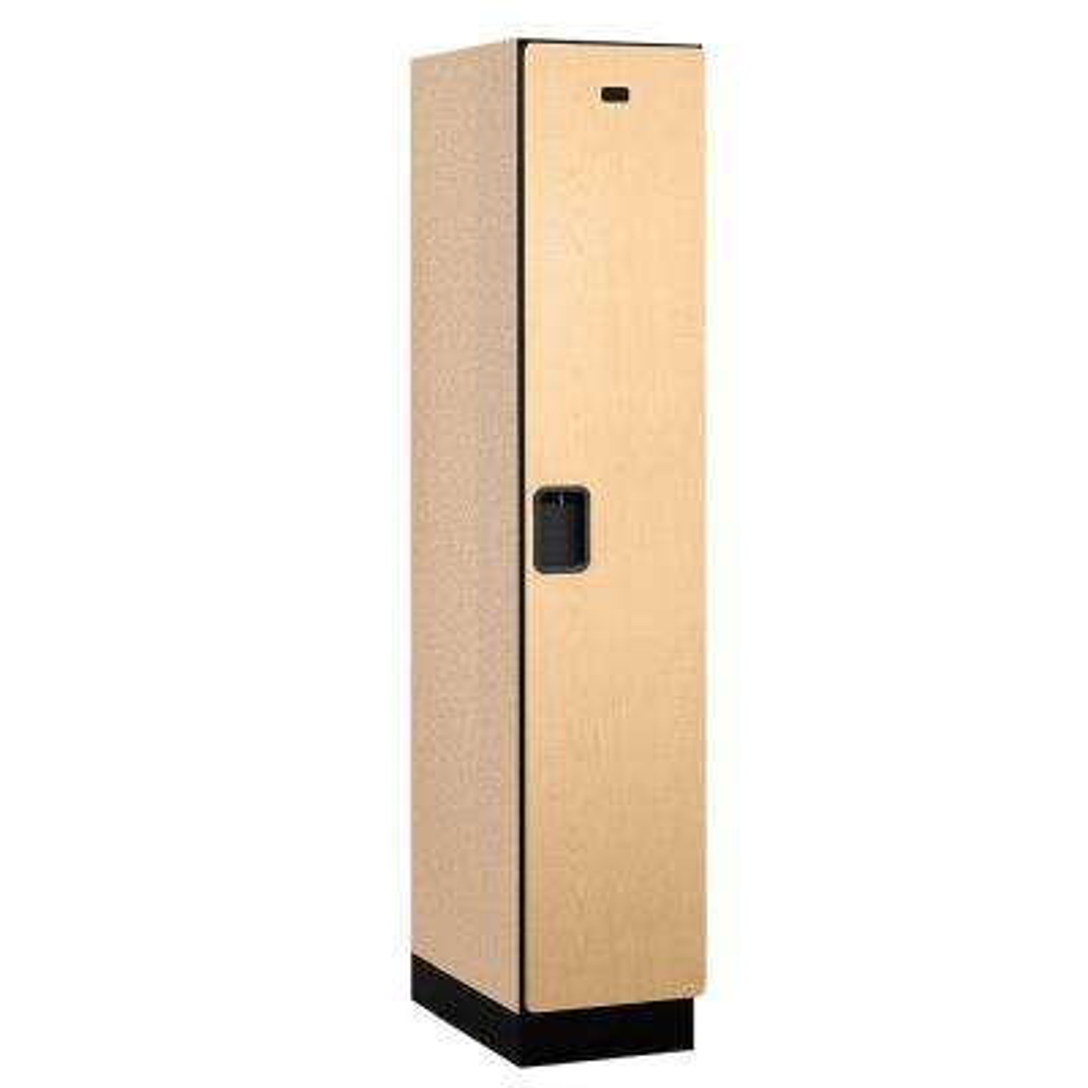 21000 Series 1-Tier Wood Extra Wide Designer Locker in Maple - 15 in. W x 76 in. H x 21 in. D