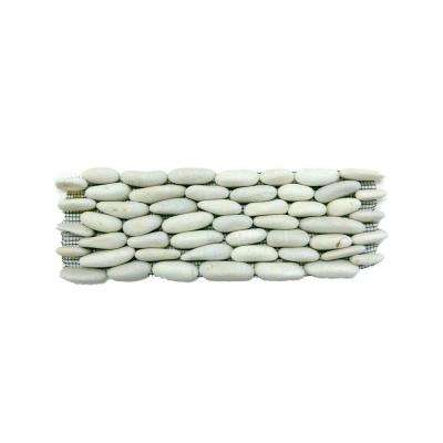 Standing Pebbles Statuary 4 in. x 12 in. x 15.8 - 19.05 mm Stone Pebble Mesh-Mounted Mosaic Wall Tile (6 sq. ft. / case)
