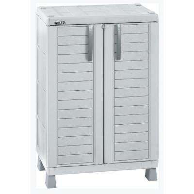 37 in. H x 25.6 in. W x 17.7 in. D Medium Storage Freestanding Cabinet in Light Gray