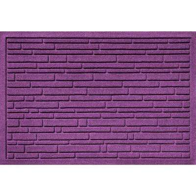 Aqua Shield Broken Brick Purple 17.5 in. x 26.5 in. Door Mat