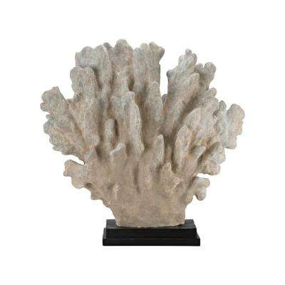 Cretaceous 27 in. x 7 in. x 26 in. Coral Decorative Sculpture in Antique White