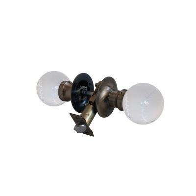 Baseball Crystal Antique Brass Passive Door Knob with LED Mixing Lighting Touch Activated