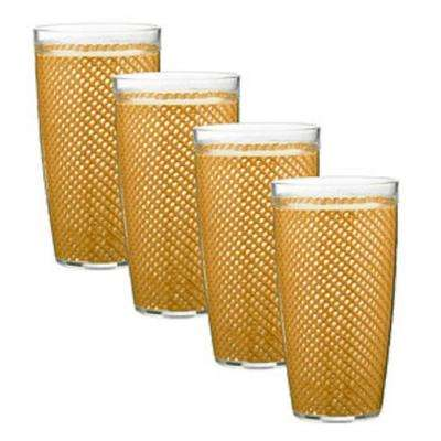 Fishnet 22 oz. Golden Insulated Drinkware (Set of 4)