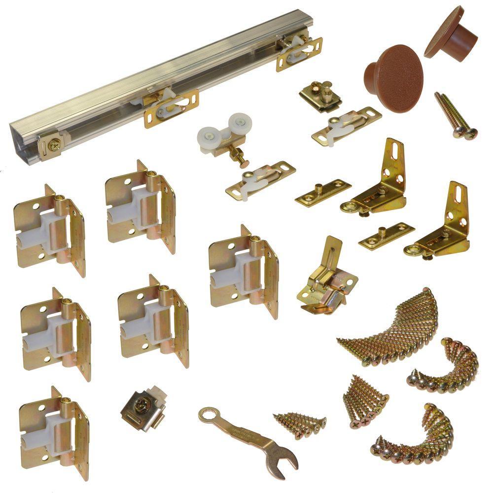 Track and Hardware Set for 4-Panel Bi-Fold  sc 1 st  The Home Depot & Closet Door Hardware - Door Knobs u0026 Hardware - The Home Depot pezcame.com