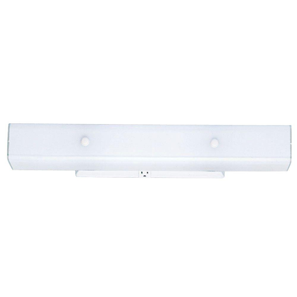 4-Light White Interior Wall Fixture with Ceramic Glass