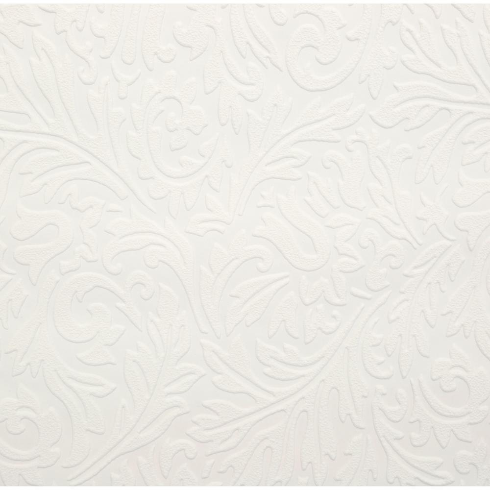 Martha Stewart Living Damask Paintable Removable Wallpaper