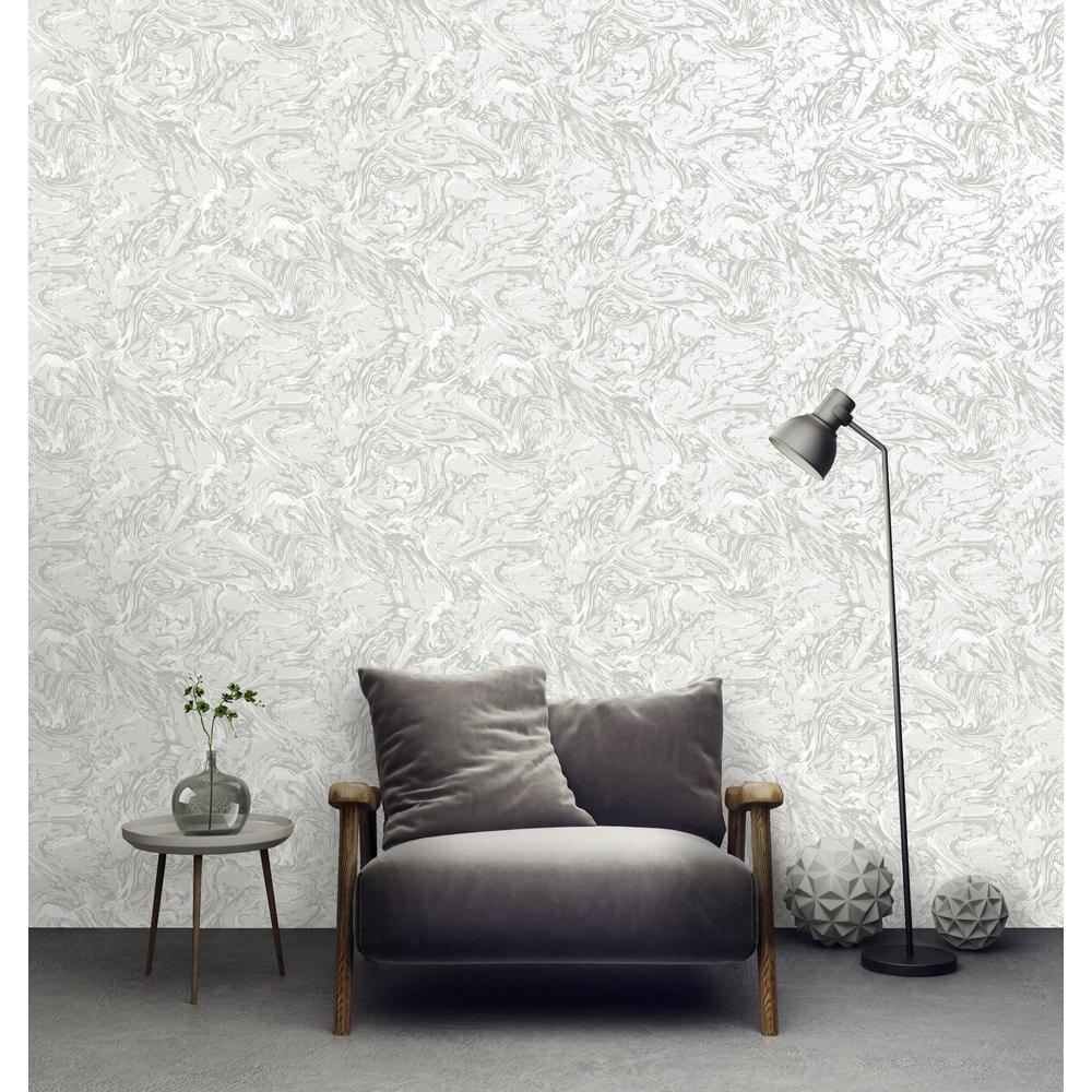 White Textured Ink Wallpaper