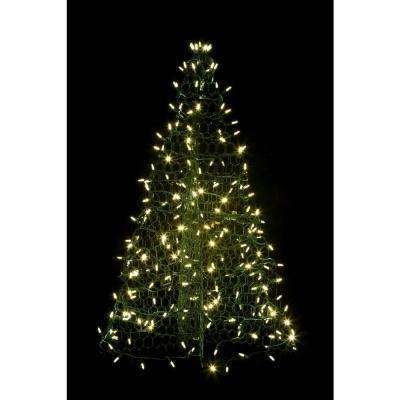 3 ft. Pre-Lit LED Green Artificial Christmas Tree with Green Frame and 160 Multi-Color Lights