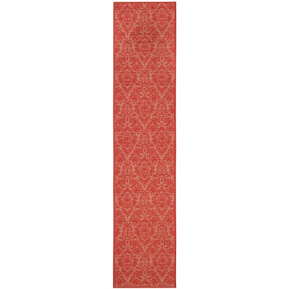 Kaleen five seasons red 3 ft x 8 ft indoor outdoor for Faux sisal rugs home depot