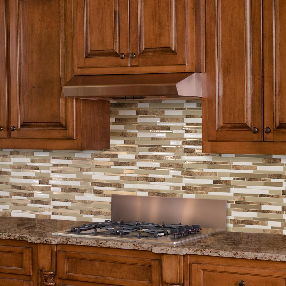 Kitchen Backsplash Tile At Home Depot: Smart Tiles Milano Sasso Approximately 3 In. W X 3 In. H