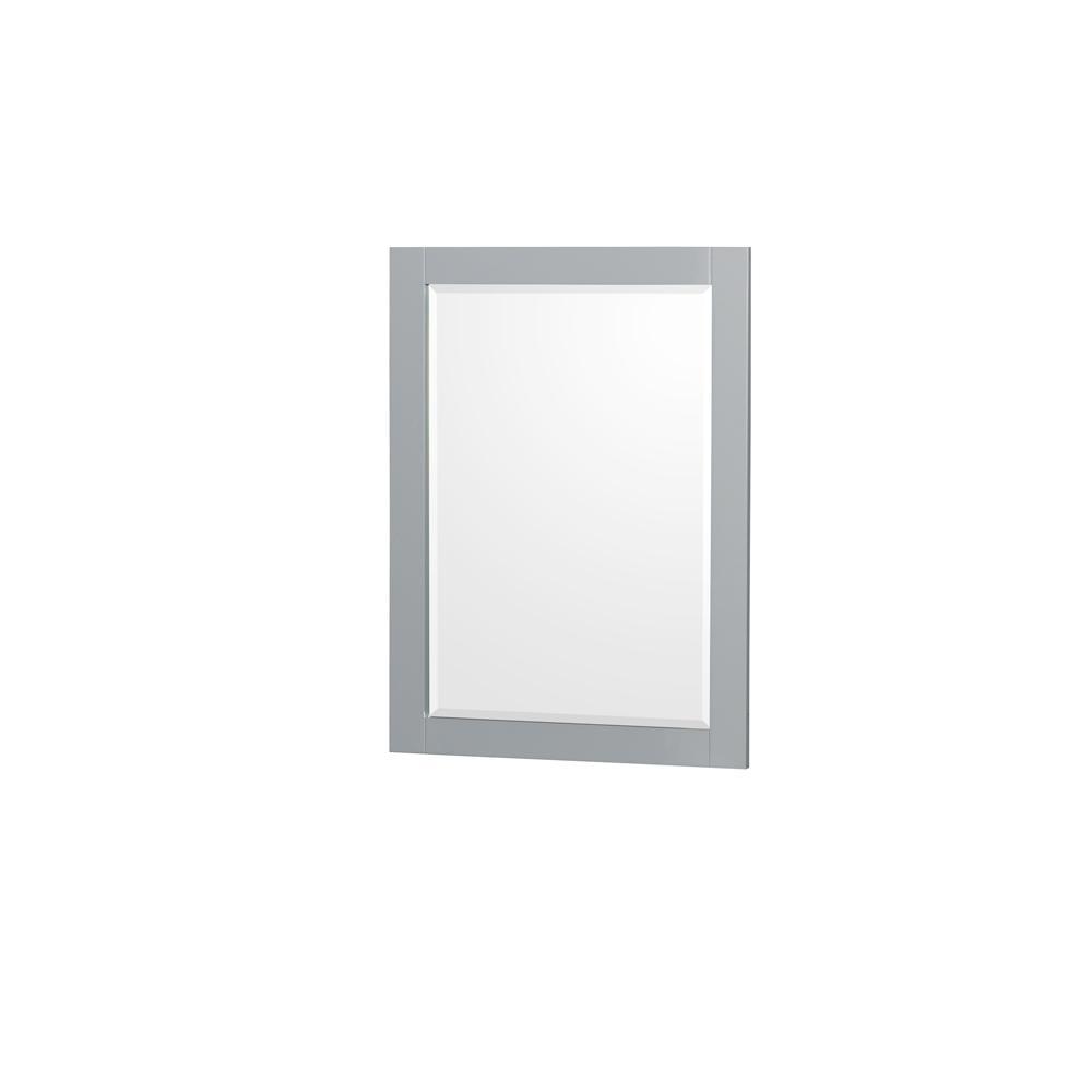 Sheffield 24 in. W x 33 in. H Framed Wall Mirror in Gray
