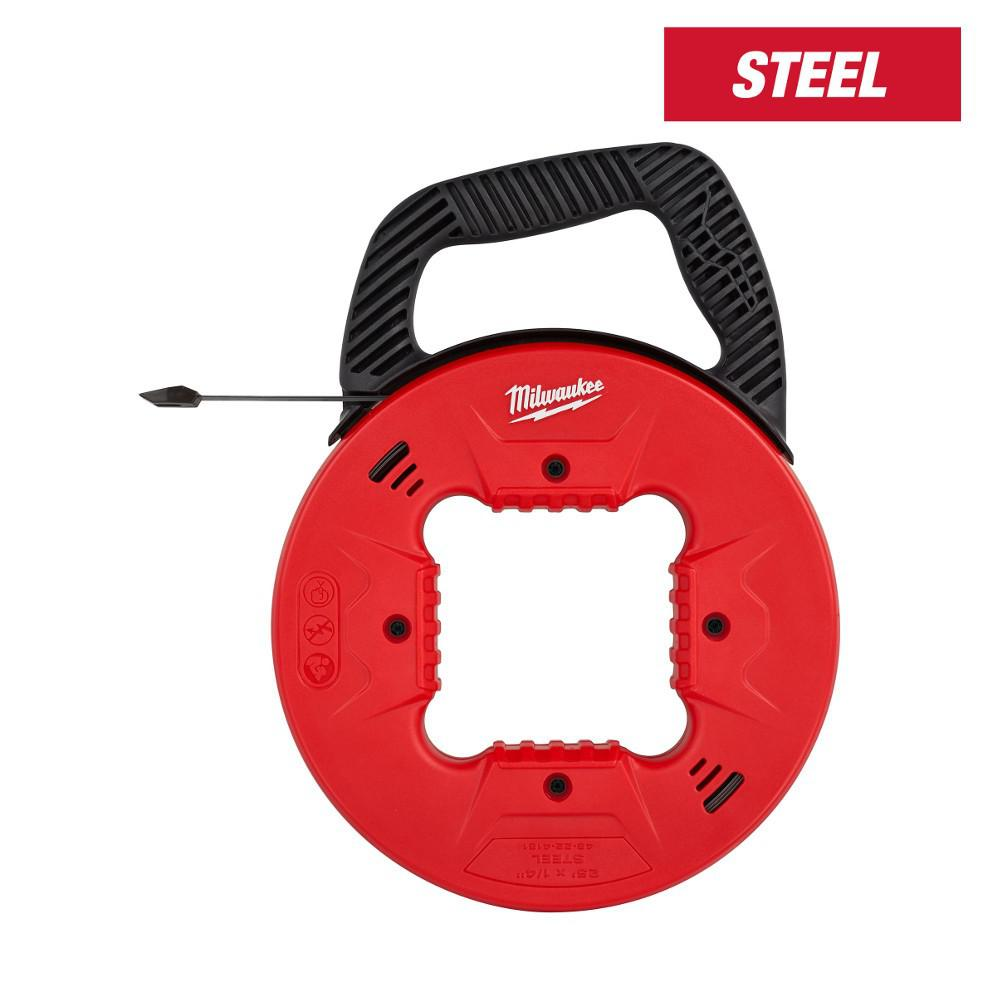 Milwaukee 25 ft. x 1/4 in. Steel Fish Tape with Low Profile Tip