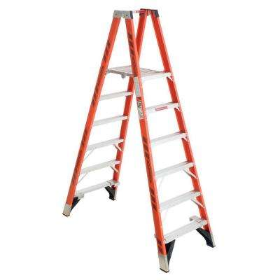 6 ft. Fiberglass Platform Step Ladder with 300 lb. Load Capacity Type IA Duty Rating
