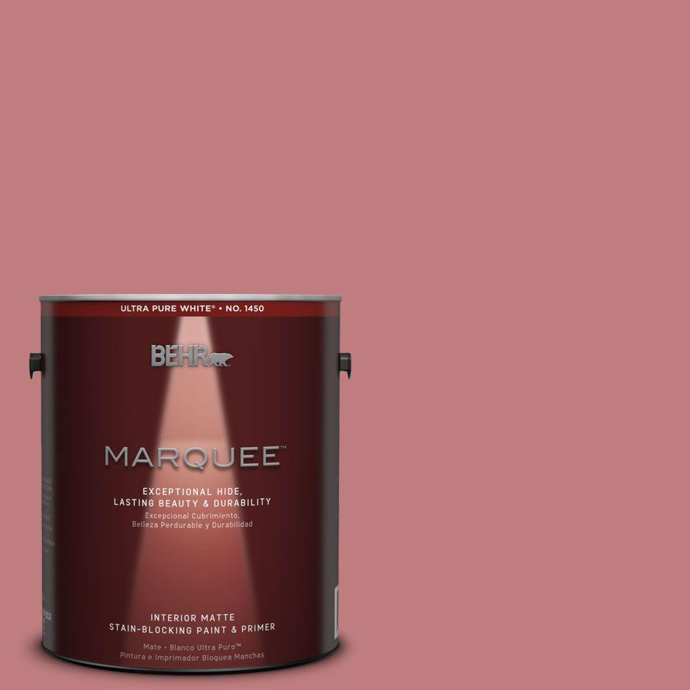 BEHR MARQUEE 1 gal. #MQ1-12 Chick Flick One-Coat Hide Matte Interior Paint