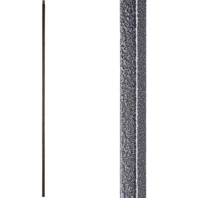 Versatile 44 in. x 0.5 in. Silver Vein Plain Square Bar Hollow Wrought Iron Baluster