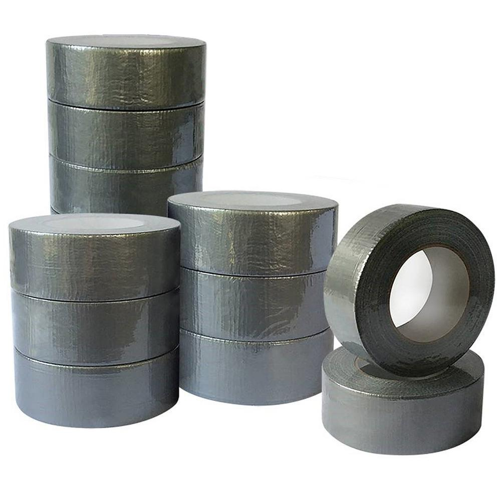 1.89 in. x 60 yd. Utility Grade Duct Tape Silver Contractors Pack (12-Pack)