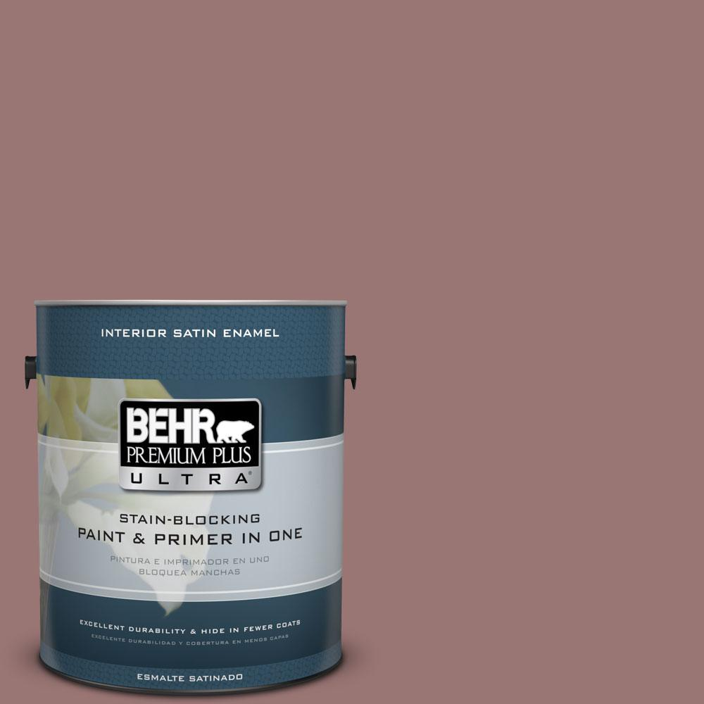 BEHR Premium Plus Ultra 1-gal. #120F-5 Hickory Stick Satin Enamel Interior Paint