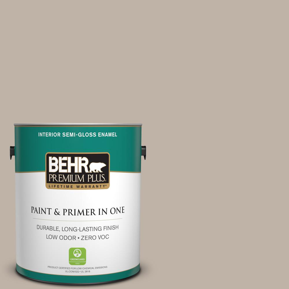 BEHR Premium Plus 1-gal. #N220-3 Smokestack Semi-Gloss Enamel Interior Paint