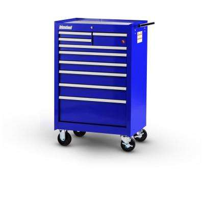 Workshop Series 27 in. 9-Drawer Roller Cabinet Tool Chest in Blue