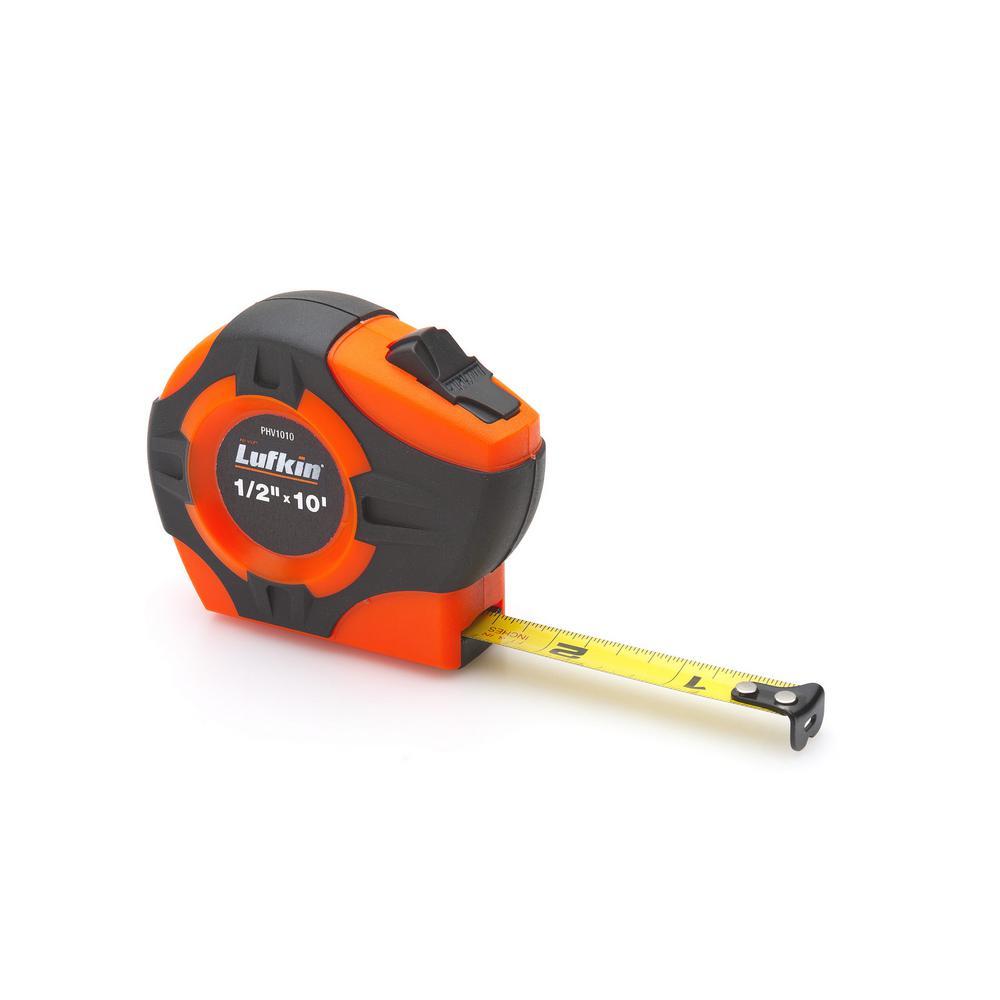 P1000 Series 1 in. x 33-ft. Hi-Viz Orange Yellow Clad A5-Blade Power Return Tape Measure
