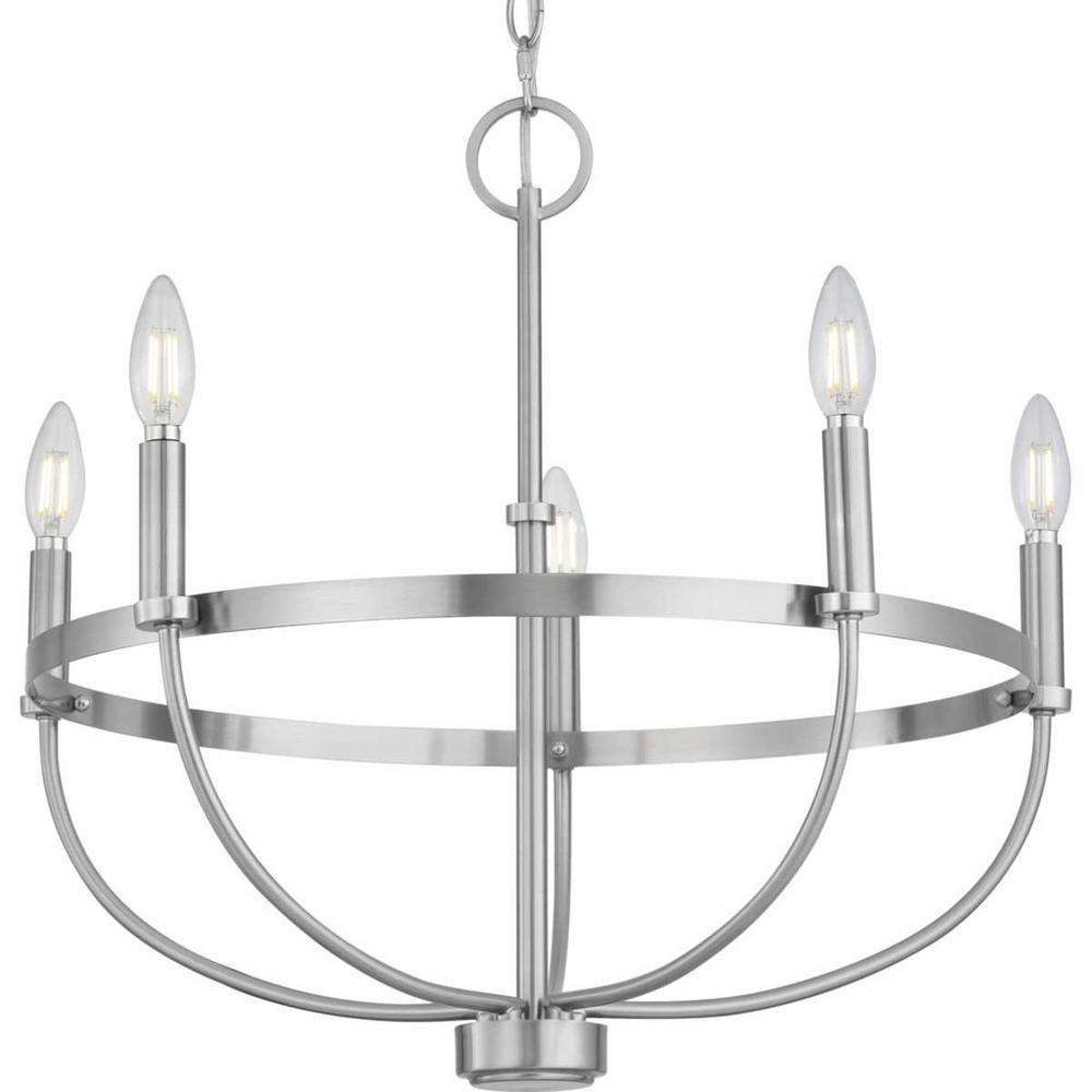 Progress Lighting Camperdown 5-Light Brushed Nickel Chandelier