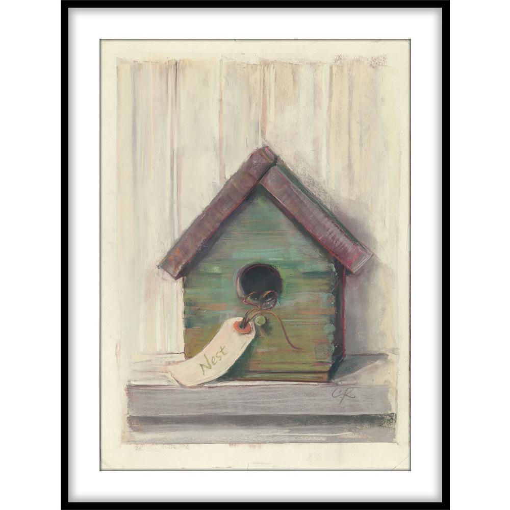 """9.75 in. x 11.75 in. """"Birdhouse""""Framed Wall Art"""