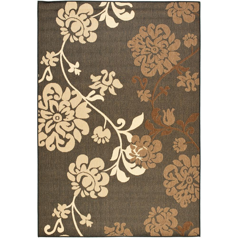 Courtyard Black Natural/Brown 5 ft. 3 in. x 7 ft. 7
