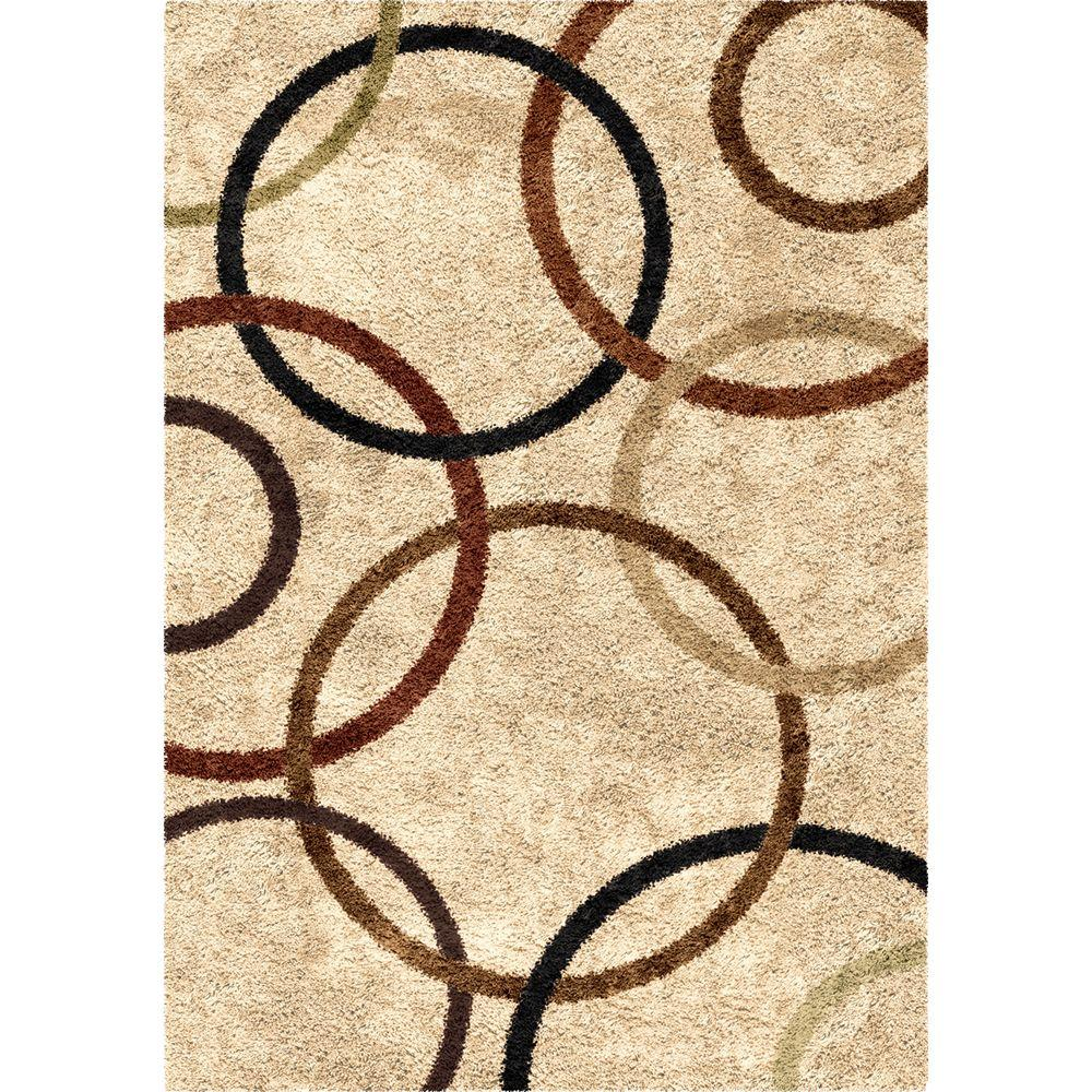 Finest Orian Rugs Circle of Life Bisque 8 ft. x 11 ft. Indoor Area Rug  XW64