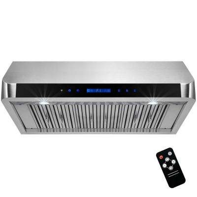 36 in. Under Cabinet Range Hood in Stainless Steel with LEDs and Electronic Touch Control