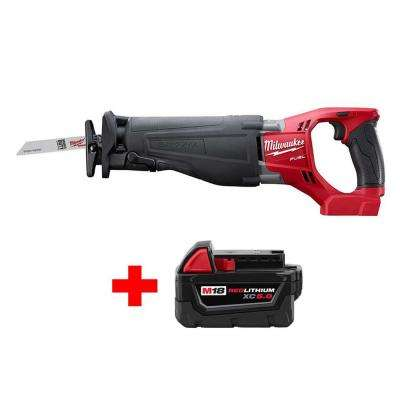 Milwaukee no tool blade change special buys power tools m18 fuel 18 volt lithium ion brushless cordless sawzall reciprocating saw with free m18 keyboard keysfo Choice Image