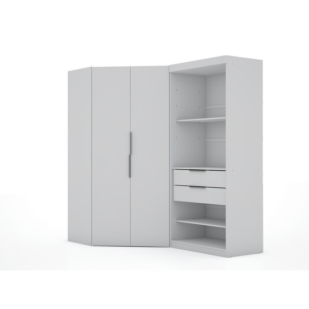 Luxor Ramsey 2.0 White Semi Open 2-Sectional Corner Closet (Set of