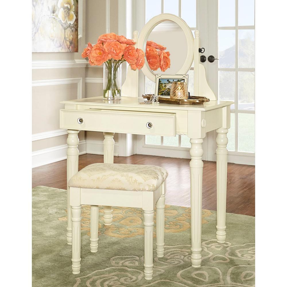 Lorraine Bedroom Vanity Set In White