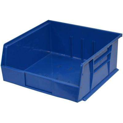 11 in. W x 10-7/8 in. D x 5 in. H Stackable Plastic Storage Bin in Blue (6-Pack)