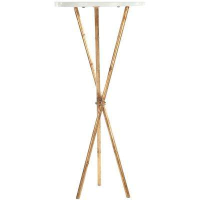 Roger White and Gold End Table