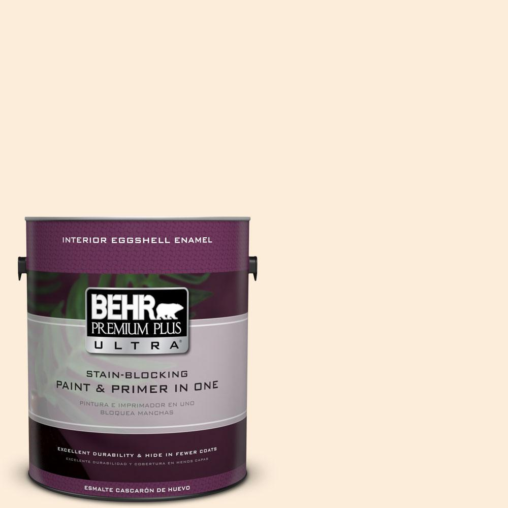 BEHR Premium Plus Ultra 1-gal. #320C-1 Cotton Tail Eggshell Enamel Interior Paint