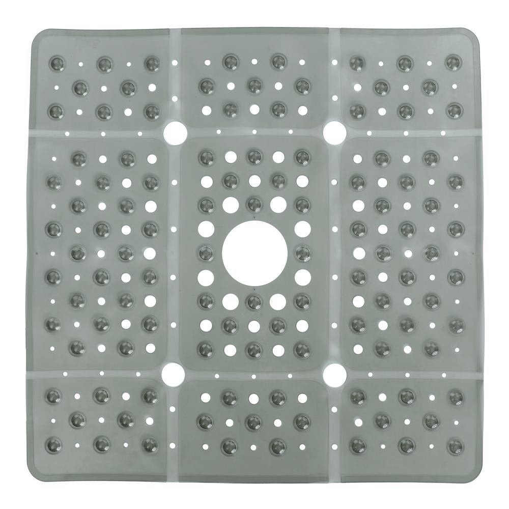 Delicieux Extra Large Square Shower Mat In Gray
