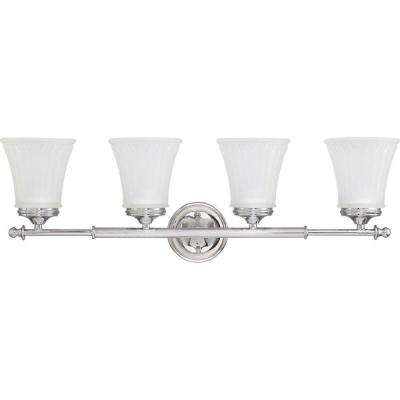 Lamberta 4-Light Polished Chrome Bath Vanity Light with Frosted Etched Glass