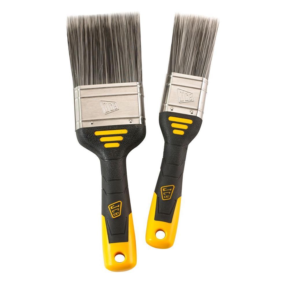 Flat Jcb Contractor Paint Brush Set 2