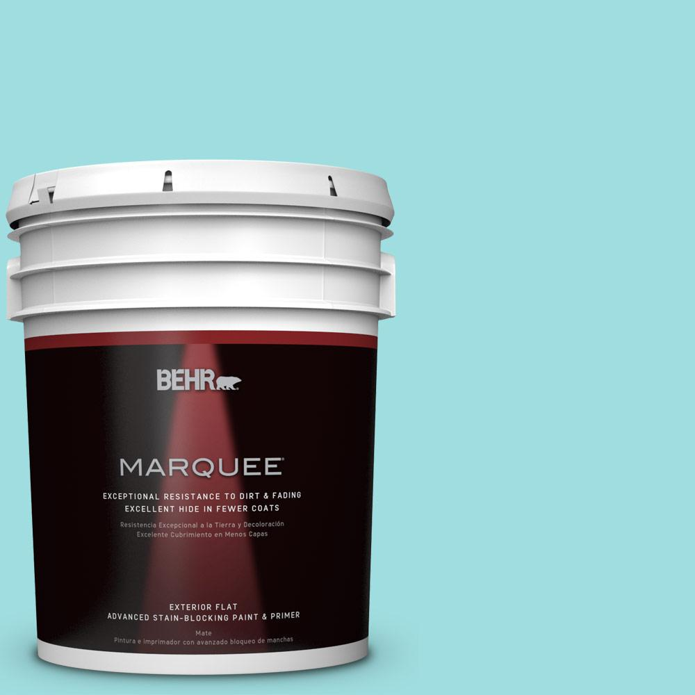 BEHR MARQUEE 5-gal. #P460-2 Tropical Waterfall Flat Exterior Paint